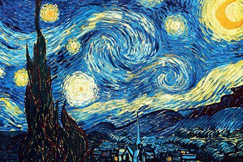Starry Night by Van Gogh XL 5D Paint with Diamonds Full Kit with Free Premium Diamond Pen - 60x40cm Full Canvas Square Drill DIY Diamond Painting Kit Plus Full Toolkit -
