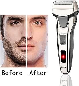 Máquina de afeitar de láminas para hombre, batería de litio ...