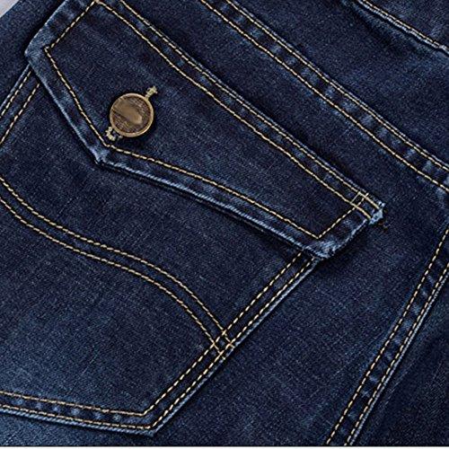 Blu Lavoro Cotone Lavaggio hop Pantaloni Allentato Del Hip Dei Da Jeans Casuale Jiameng Denim Lunghi Casual Uomo qz4Fqwa