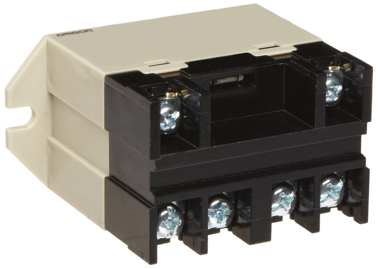 Omron G7L-2A-BUBJ-CB AC200/240 General Purpose Relay With Test Button, Class B Insulation, Screw Terminal, Upper Bracket Mounting, Double Pole Single Throw Normally Open Contacts, 8.5 to 10.2 mA Rated Load Current, 200 to 240 VAC Rated Load Voltage