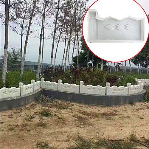 lzndeal Valla de jardín Molde de plástico Flor Piscina Molde de ladrillo Cemento de jardín Molde de hormigón Permeable: Amazon.es: Hogar