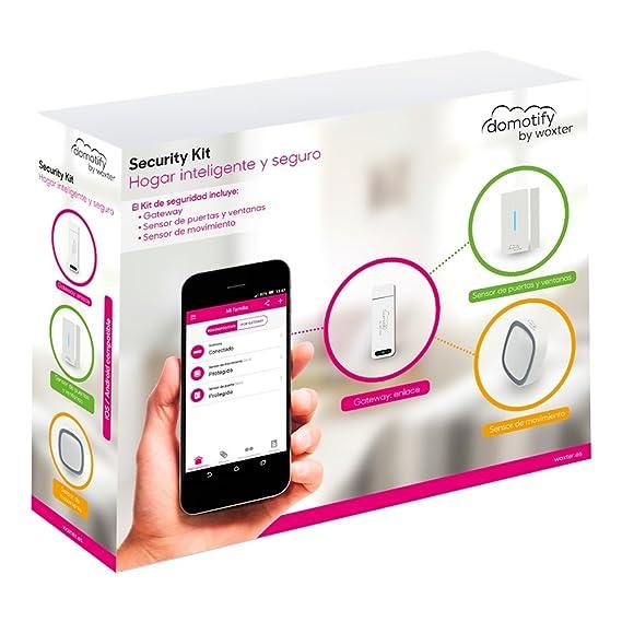 Woxter Domotify Security Kit - Kit de seguridad domótica de Domotify, incluye Gateway, Sensor de Movimiento y Sensor de Puertas/Ventanas, ...