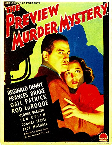 Posterazzi The Preview Murder Mystery Reginald Denny Frances Drake On Midget Window Card 1936 Movie Masterprint Poster Print (11 x 17)