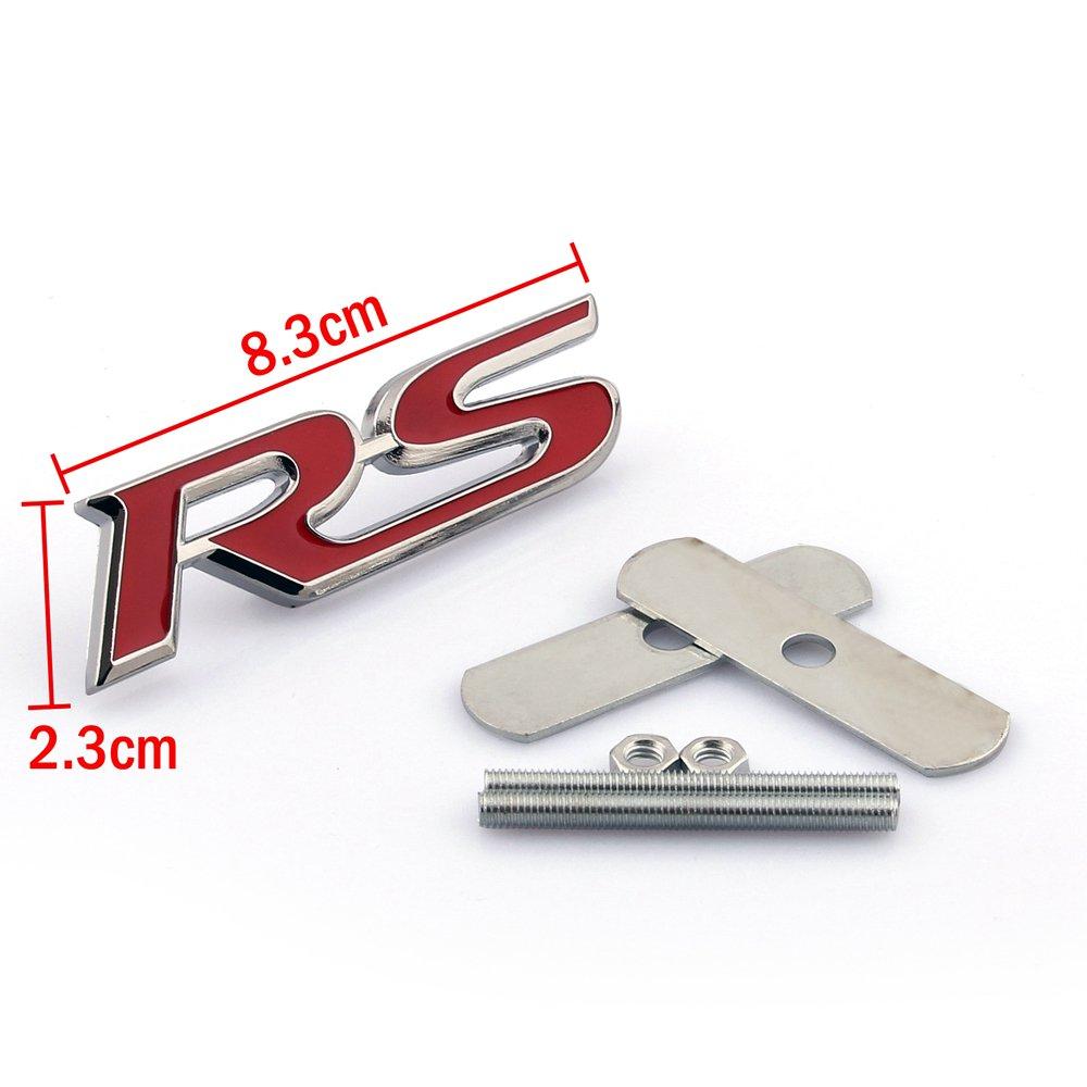 Areyourshop 3d Metal Front Grille Grill Badge Emblem Decals Hood Auto Car Rs Logo 4agegaragea8185