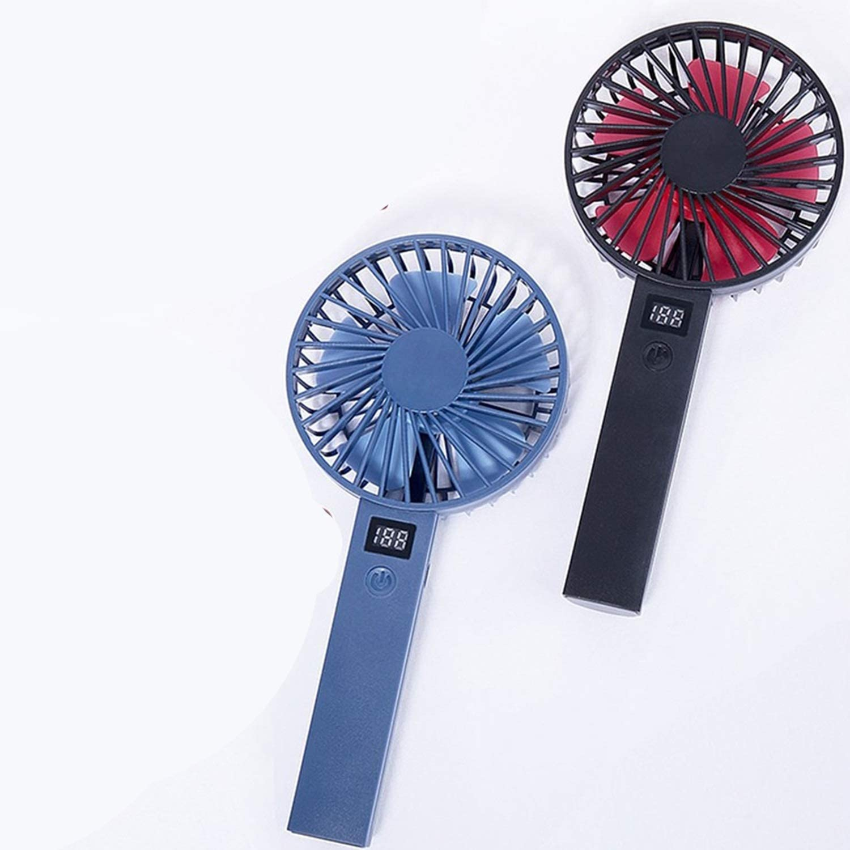 XIAOF-FEN Small Fan Simple Mini Handheld Display USB Charging 3 Gear Desktop Fan with Anti-Slip Base USB Fan Color : White