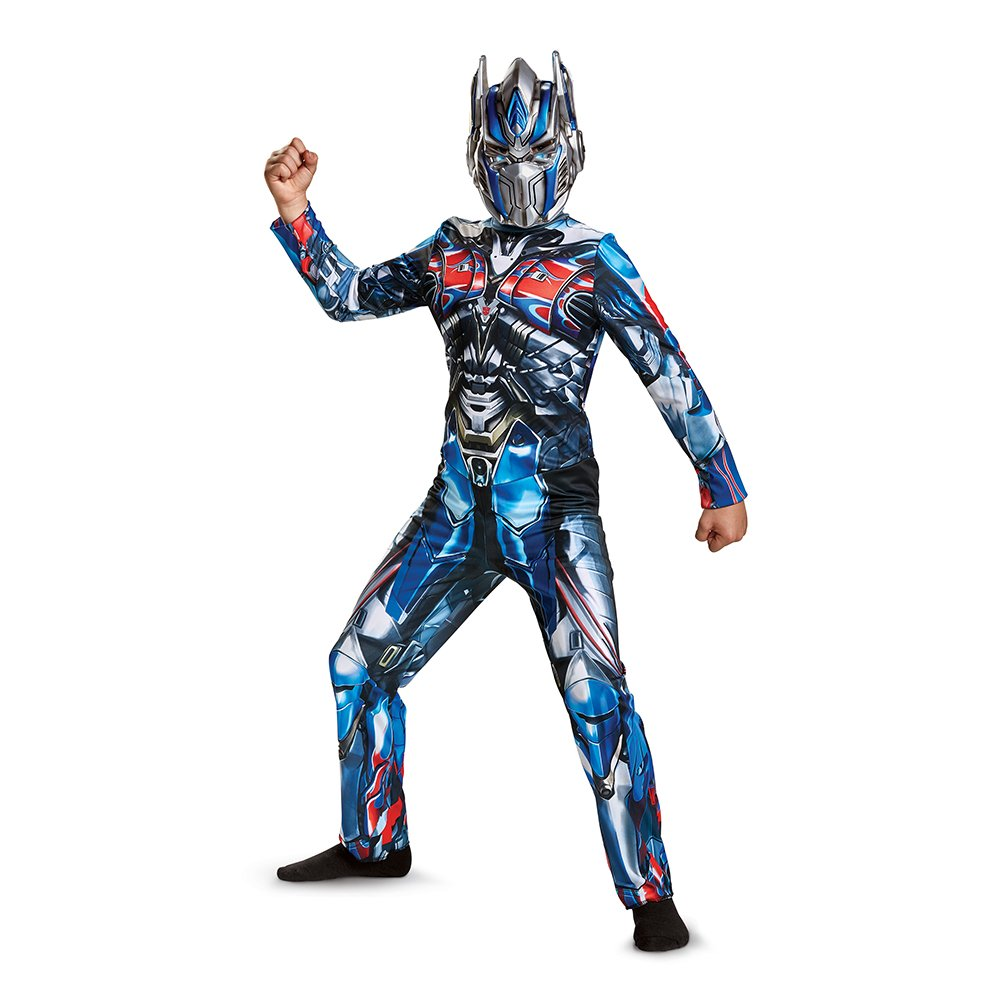 Kids Official Optimus Prime Transformers Last Knight Fancy Dress Costume Outfit