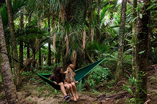 Premium Outdoor Hammock - Large Double Size, Portable & Ultra Light. FREE 10' Tree Straps & Wiregate Carabiners Included. Ripstop Parachute Nylon for Hiking, Camping, Travel, Beach & Backpacking