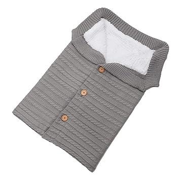 Queta - Saco de Dormir para bebé (Tejido de Lana y Terciopelo) Gris Gris Claro: Amazon.es: Informática