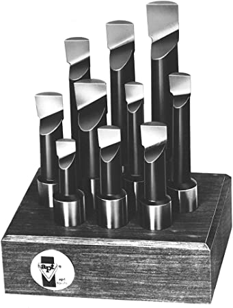 "HFS R 1//2/"" Shank 9 Piece Carbide Tip Boring Bar Set"