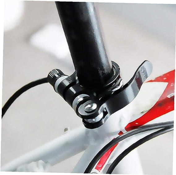 Aluminiumlegierung-Fahrrad-Sattelklemme Fahrrad Binder-Klemmschraube Sattelst/ütze Schnellspanner Schwarz