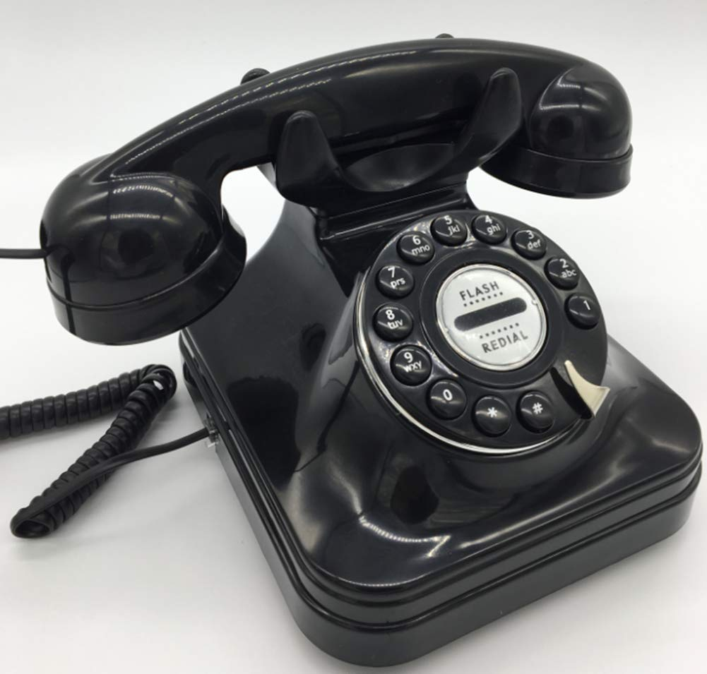 European Retro Antique Telephone Hotel Button Fixed Vintage Antique Telephone by Telephone