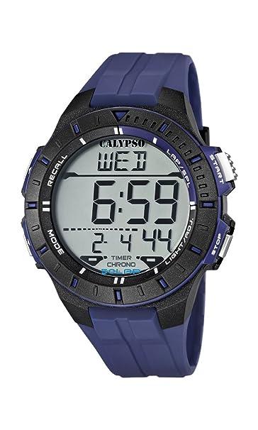 Calypso K5607/2 - Reloj de caballero de cuarzo, correa de caucho color azul: Amazon.es: Relojes