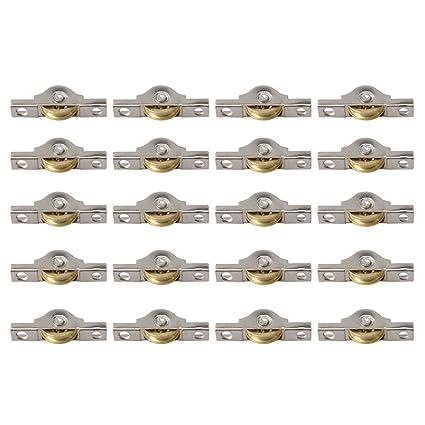 BQLZR Rueda corredera de cobre de 20 mm para armarios, armarios, puertas, paquete