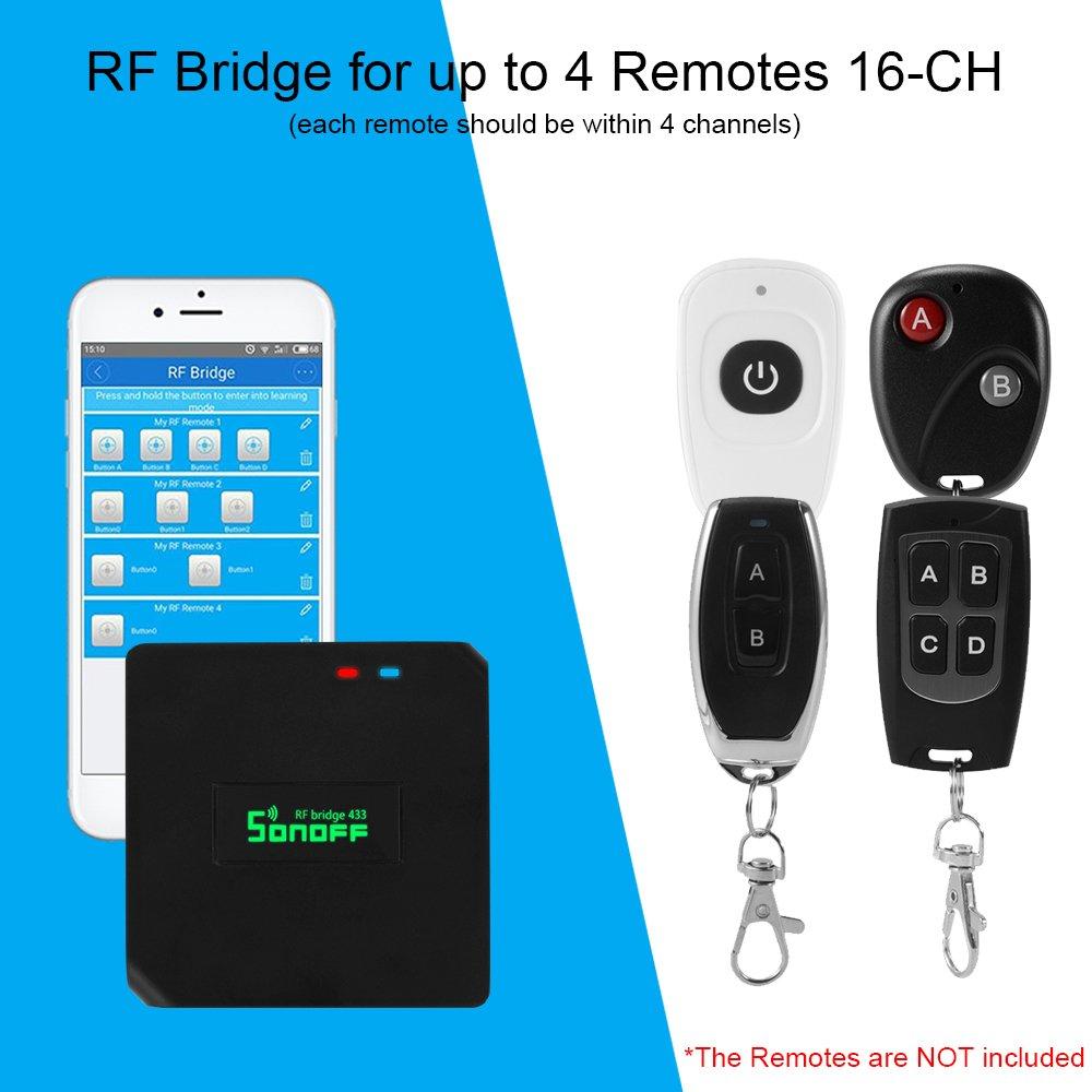 Smart Home & Surveillance Sonoff RF Bridge 433MHz Wifi