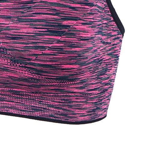YEYELE Women Adjustable Straps and Removable Pads Tank Top Seamless Racerback Sports Bra, Purple, M(34D 36A 36B 36C 36D 38A 38B) by YEYELE (Image #4)
