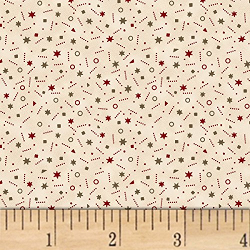 Marcus Brothers 0559025 Pam Buda Pieceful Pines Tan Fabric by The Yard, ()