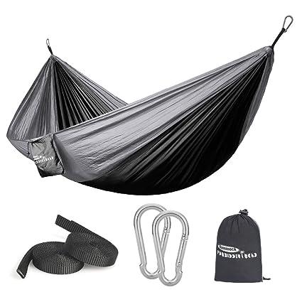 Smart Portable Camping Hammock Parachute Nylon Cloth Sleeping Swing Hammock For Outdoors Backpacking Travel Beach Sports & Entertainment