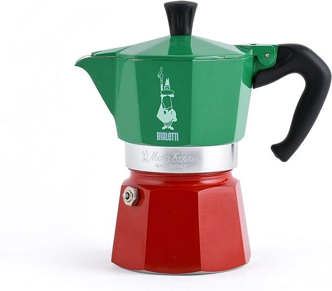 Bialetti - Moka Express colección Italia (Tricolor), cafetera de 3 Tazas, Aluminio: Amazon.es: Hogar