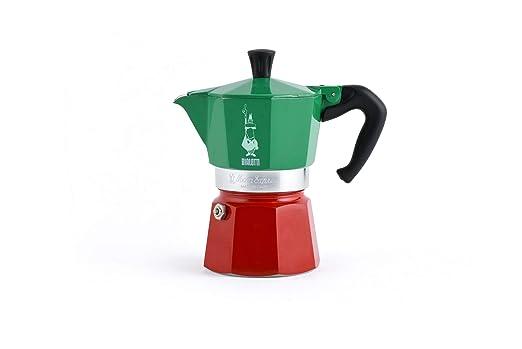 Bialetti - Moka Express colección Italia (Tricolor), cafetera de 3 ...