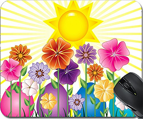 Grass Clipart - MSD Natural Rubber Mousepad Mouse Pads/Mat design: 9274980 Vector illstration of a Spring Day with Sunshine and Easter Garden with grass