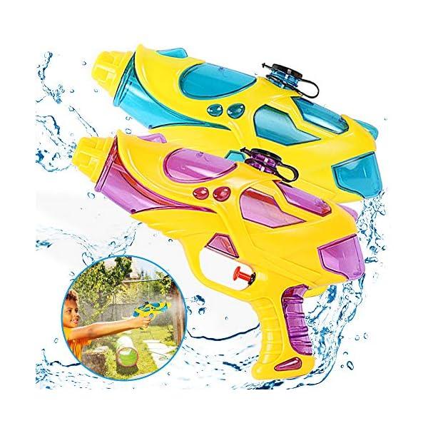 Pistole ad Acqua Giocattolo 2 PCS Pistola Ad Acqua 200ml Pistola Giocattolo Giocattoli Estivi per Bambini Squirt Guns… 1 spesavip