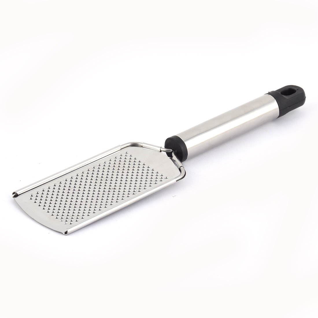 uxcell Stainless Steel Home Round Handle Ginger Patato Cheese Grater Slicer Silver Tone a16121400ux0113