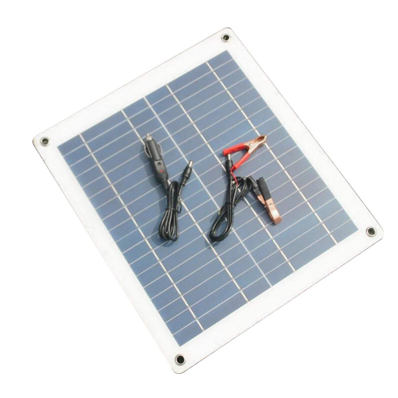 WOSOSYEYO Pannello Solare Semi-Flessibile del caricabatteria del Pannello Solare 30W 18V per la Barca dell'automobile (Colore: Bianco & Nero)