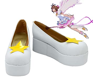 SAKURA KINOMOTO Cosplay Shoes Boots Custom Made white 1
