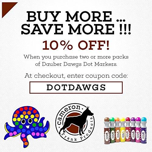 Amazon.com: 8-pack Washable Dot Markers / Bingo Daubers Dabbers ...