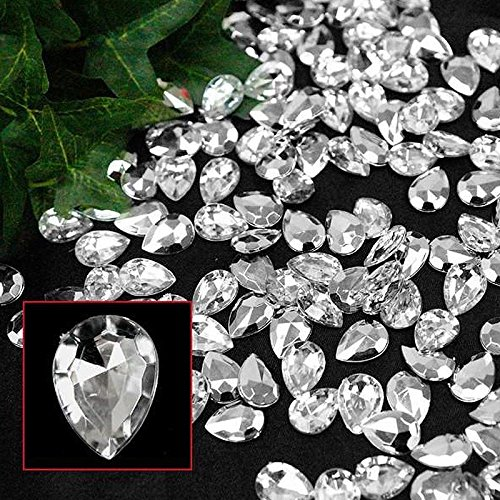 Faceted Pear Cut (Efavormart Diva Lifestyle Endless Diamond Rhinestones 470/pk Pear-Cut Clear)