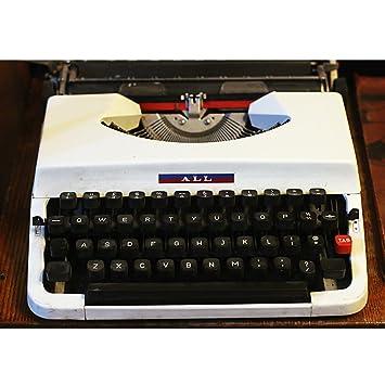 Máquina de escribir de Época de estilo Vintage años 80 de metal de Época,