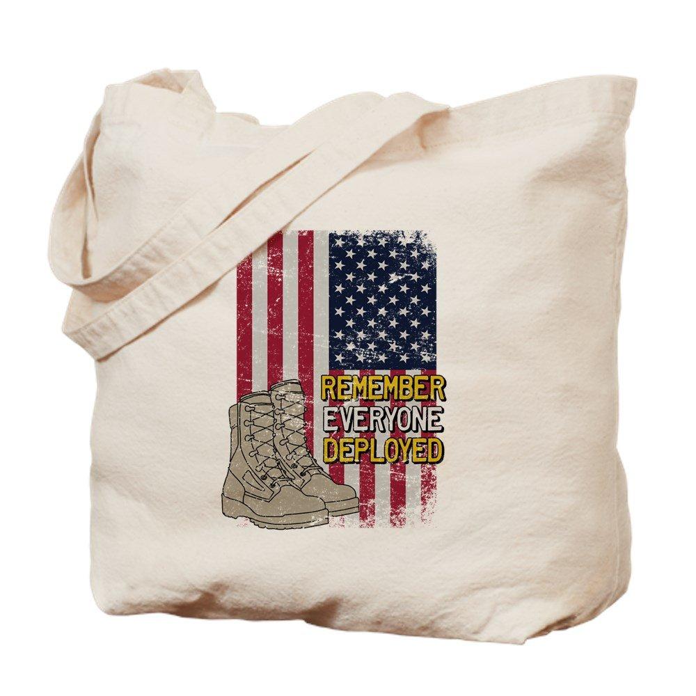 CafePress - Red Friday American Flag Boot - Natural Canvas Tote Bag, Cloth Shopping Bag