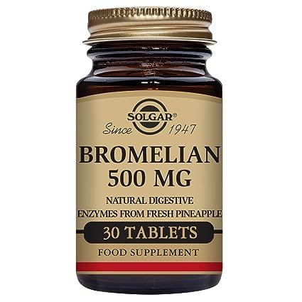 Solgar Bromelaína Comprimidos de 500 mg - Envase de 30: Amazon.es ...