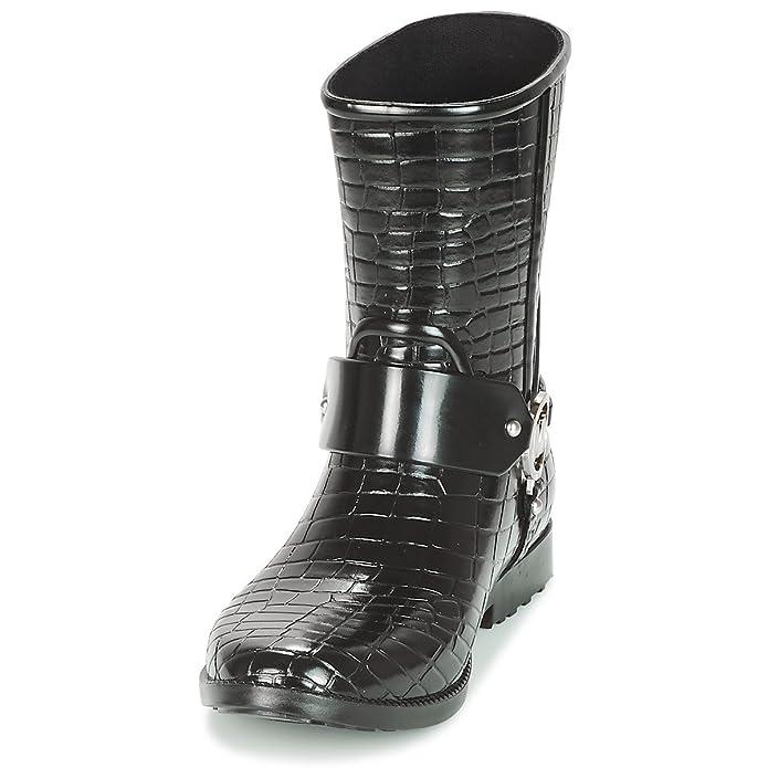 Michael by Michael Kors MK Croco Botines de Goma Negro Mujer Negro 38.5: Amazon.es: Zapatos y complementos