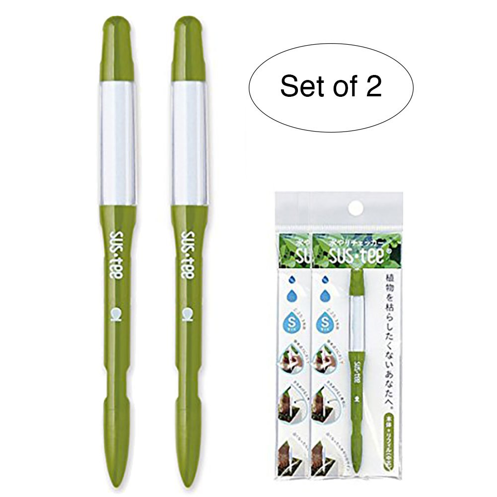 Sustee Aquameter Set of 2, Plant Moisture Sensor, (Green, Small, Refillable)