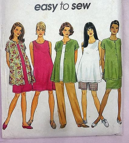 Amazon Vintage 90s Simplicity 8529 Maternity Top Shirt Jacket