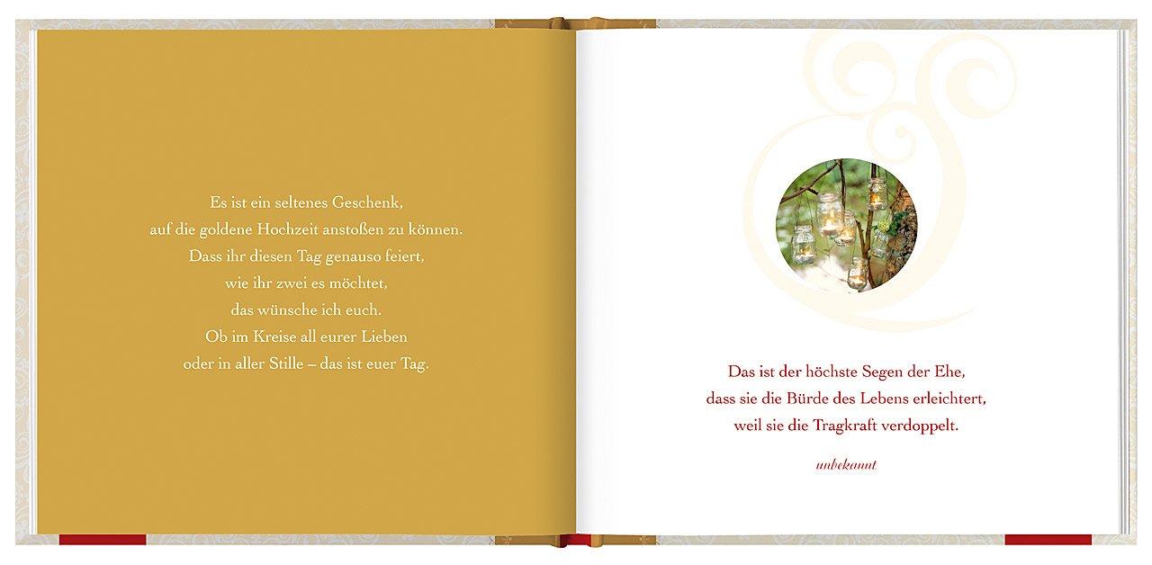 Zur Goldenen Hochzeit Die Besten Wünsche Amazonde Joachim