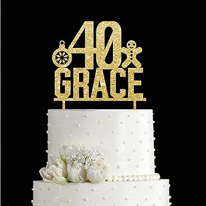 Amazon.com: KISKISTONITE 40th Snowman Snowflake Happy Birthday Cake ...
