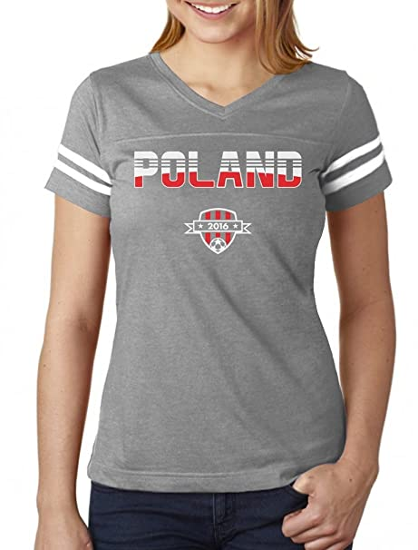 TeeStars - Poland Soccer Football Team 2016 Fans Women Football Jersey T- Shirt Small ad4e2a6c62