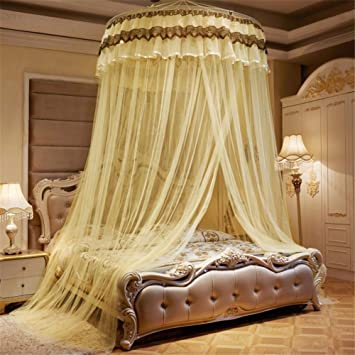Very  Fashion Round Lace Curtain Dome Bed Canopy Netting Princess Mosquito Net L
