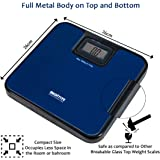 MEDITIVE Durable Unbreakable Compact Size Metal Platform Digital Human Weighing Scale (Blue, 7-180 Kg)