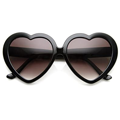 Amazon.com: Gafas de sol grandes con forma de corazón para ...