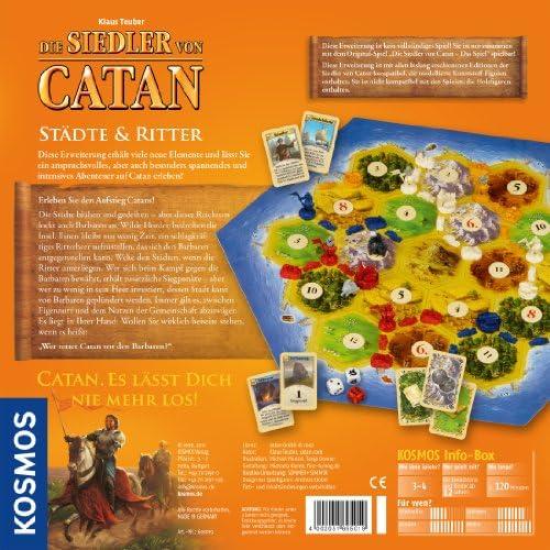 KOSMOS 695019 Colonos de Catan Ciudades y Caballeros 3-4 jugadores, Lenguaje Aleman: Amazon.es: Juguetes y juegos
