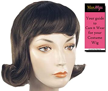 Short 60s Lucy Flip Color Light Brown - Lacey Wigs Women s Betty Rubble  Peanuts Grease Sixties bb861bd1966b