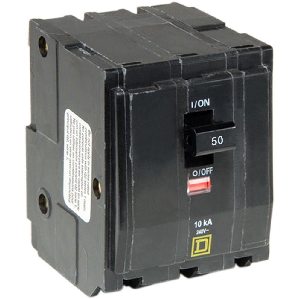 Square D by Schneider Electric QO350CP QO 50 Amp Three-Pole Circuit Breaker, by Square D by Schneider Electric