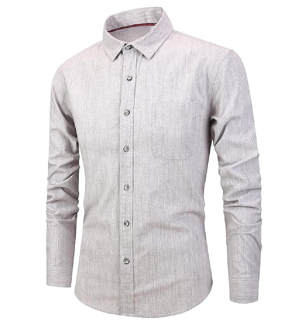 SportsX Men Plus Size Button Classic Plaid No Iron Comfort Woven Shirt