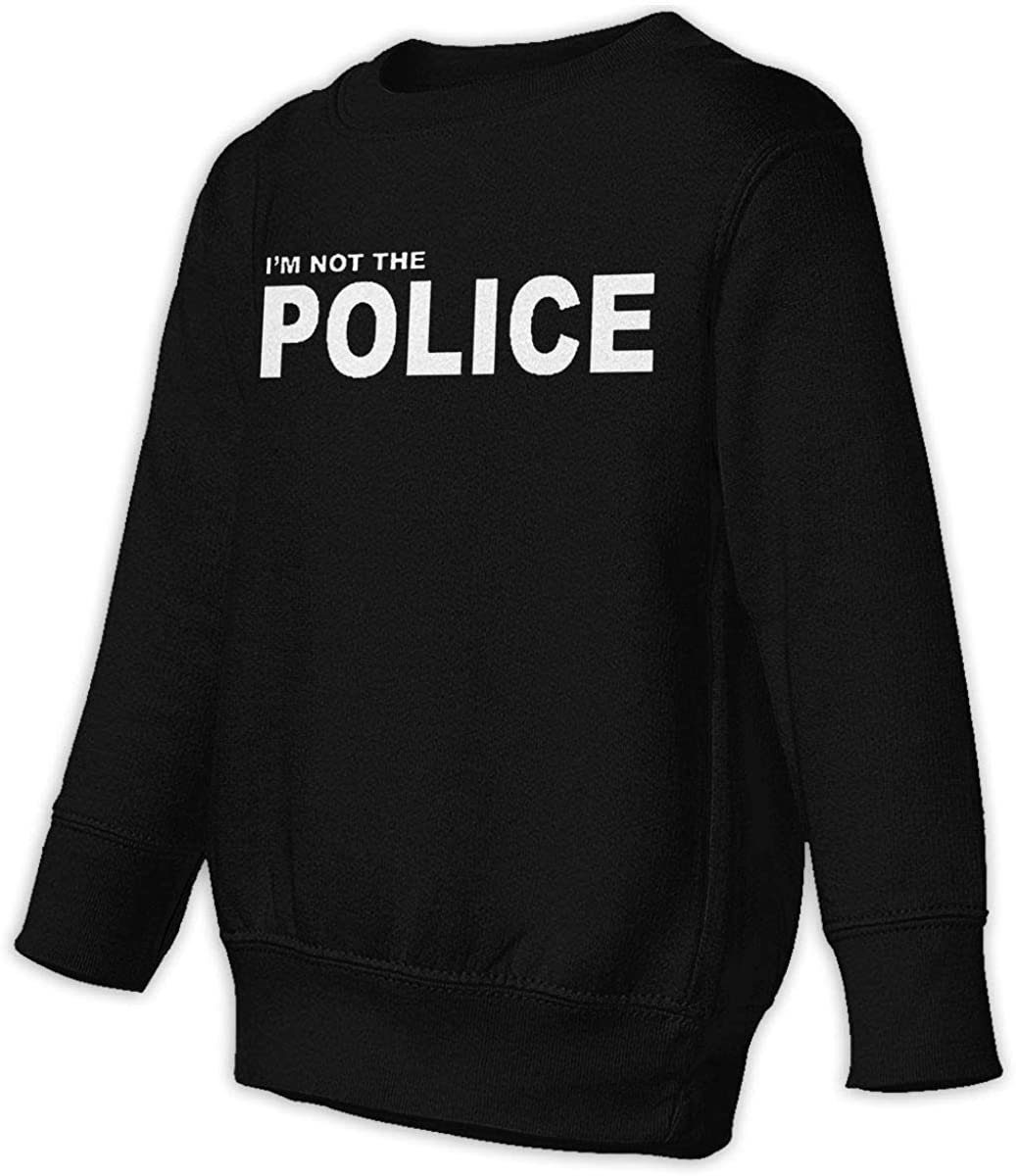 wudici Im Not The Police Logo Boys Girls Pullover Sweaters Crewneck Sweatshirts Clothes for 2-6 Years Old Children