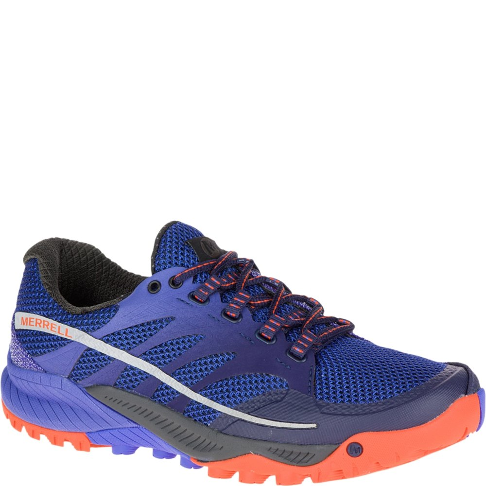 Merrell Women's All Out Charge Trail Running Shoe, Surf The Web, 9.5 M US