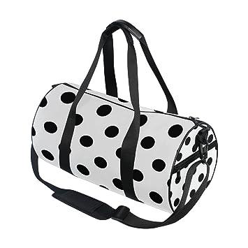 Black and White Polka DOT Duffel BAG