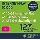 mobilcom-debitel Telekom Internet-Flat 10.000 mit 10 GB LTE Internet Flat max. 150 MBit/s, Nationale Datenflatrate, 24 Monate Laufzeit,  monatlich nur 12,99 EUR, Triple-Sim-Karten